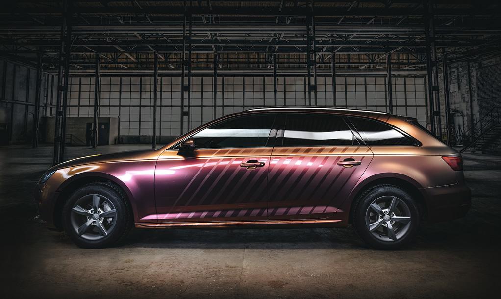 Audi A4 – Aubergine bronze